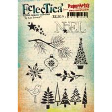 PaperArtsy stamps Lin Brown ELB10 mounted on EZ foam
